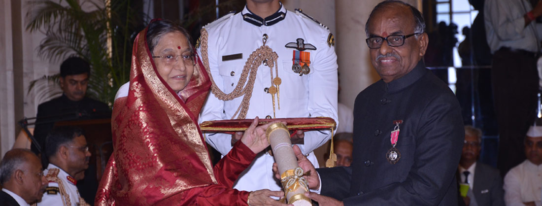 Padma Shri Award has been awarded for the year 2012
